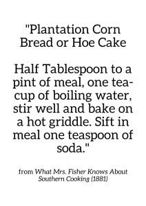 Mrs. Fisher Corn Bread Recepie