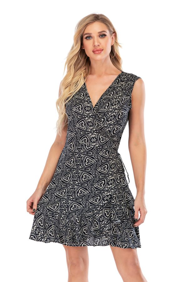 5 Calison Women's V-Neck Casual Print Fashion DRESS