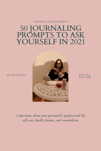 50 journaling prompts to ask yourself. in2021