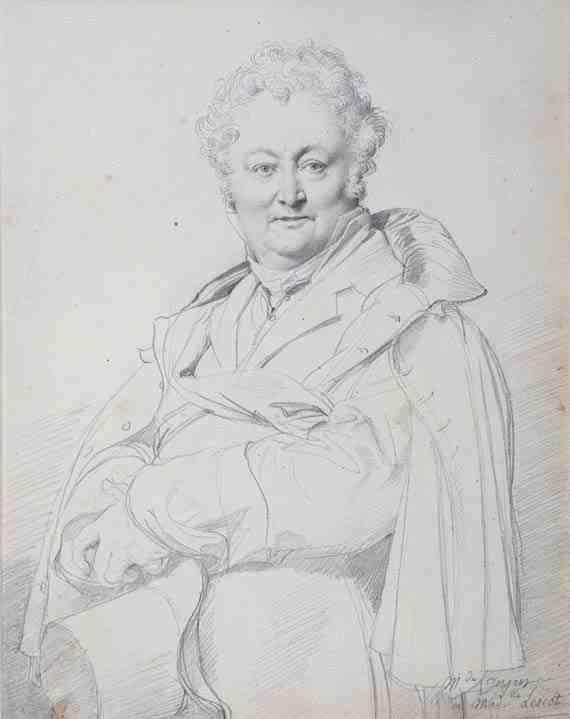 Jean-Auguste-Dominique Ingres, Portrait of Guillaume Guillon Lethiére