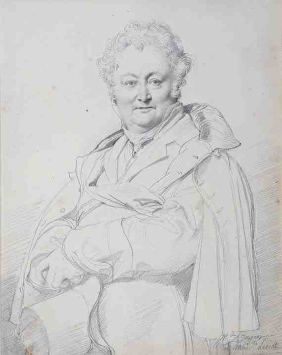 Jean-Auguste-Dominique Ingres, Portrait of Guillaume Guillon Lethiére