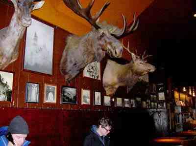 Interior, Portland's Lotus Cardroom and Café