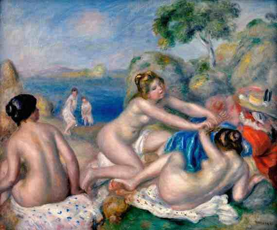 Renoir: Bathers Playing With a Crab