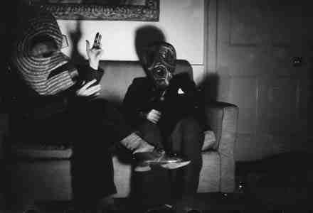 Roland Penrose - Paul Eluard and ELT Mesens, masks