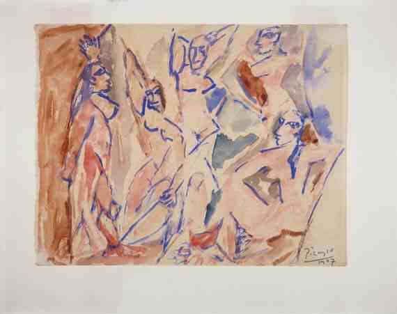 Picasso: Study for The Young Ladies of Avignon