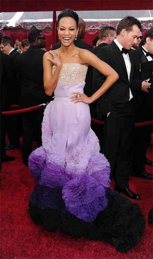 Zoe Saldana Oscars Dress