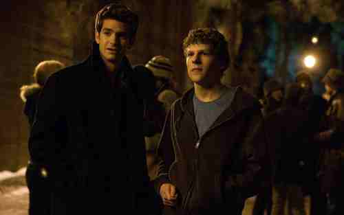 Andrew Garfield and Jesse Eisenberg in The Social Network