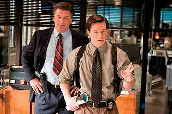 The Departed (2006) - Alec Baldwin and Mark Wahlberg