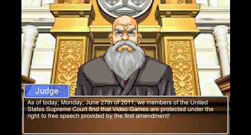 Phoenix Wright Judge Supreme court Video Game ruling