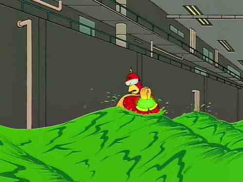 Rainer Wolfcastle (Harry Shearer) suffers for Radioactive Man