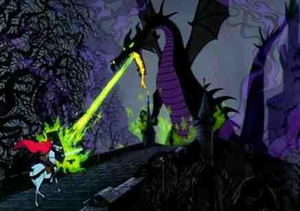 Sleeping Beauty Dragon versus Prince