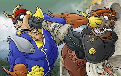 Capt. Falcon Punching Ganondorf Punching Captain Falcon