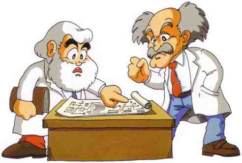Dr. Noah Light and Dr. Albert Wily Working together