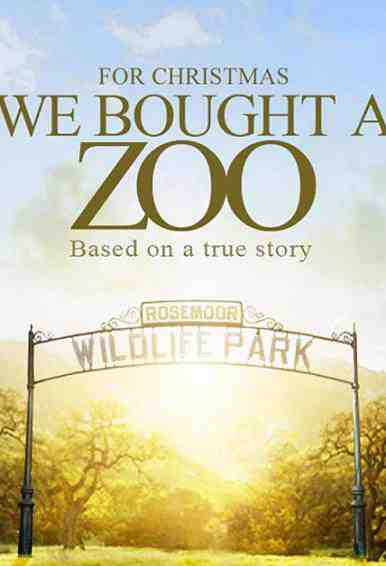 The Poster For We Bought a Zoo