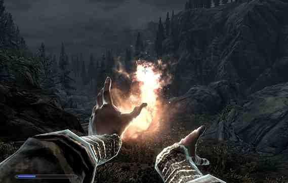 Skyrim Mage Dual Cast Fireball