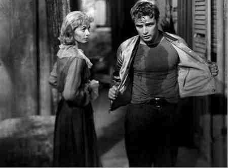Vivien Leigh as Blanche and Marlon Brando as Stanley in A Streetcar Named Desire