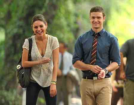 Mila Kunis and Justin Timberlake in Friends with Benefits