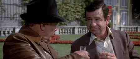 Matthau trades quips with fellow spy Herbert Lom in Hopscotch