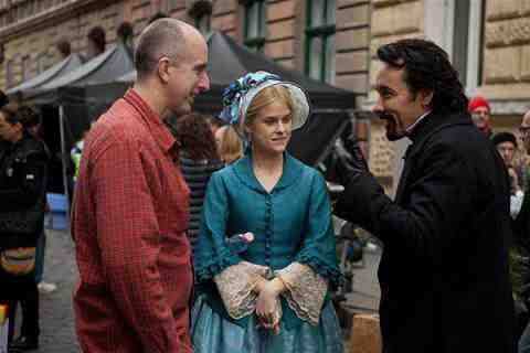 The Raven Director James McTeigue with John Cusack and Alice Eve