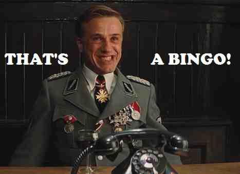 Cristoph Waltz Thats a bingo trollface
