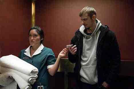 Maid (Q?orianka Kilchner) and Stephen Holder (Joel Kinnaman) in The Killing