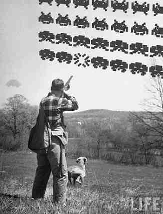 Space Invaders Hunting Image LIFE Magazine