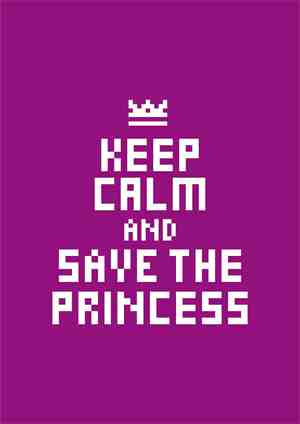 Keep Calm Video Game Poster