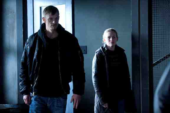 The Killing- Joel Kinnaman and Mirelle Enos as Detectives Holder and Linden