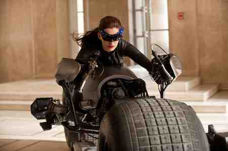 Anne Hathaway as Selina Kyle in The Dark Knight Rises