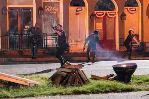 Walking Dead Woodbury attack