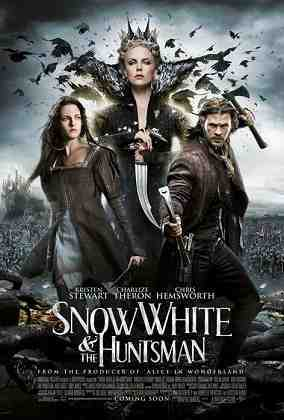 SNOW WHITE AND THE HUNTSMAN, from left on US poster art: Kristen Stewart, Charlize Theron, Chris Hemsworth, 2012.