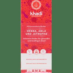 Khadi Pflanzenhaarfarbe Henna, Amla und Jatropha