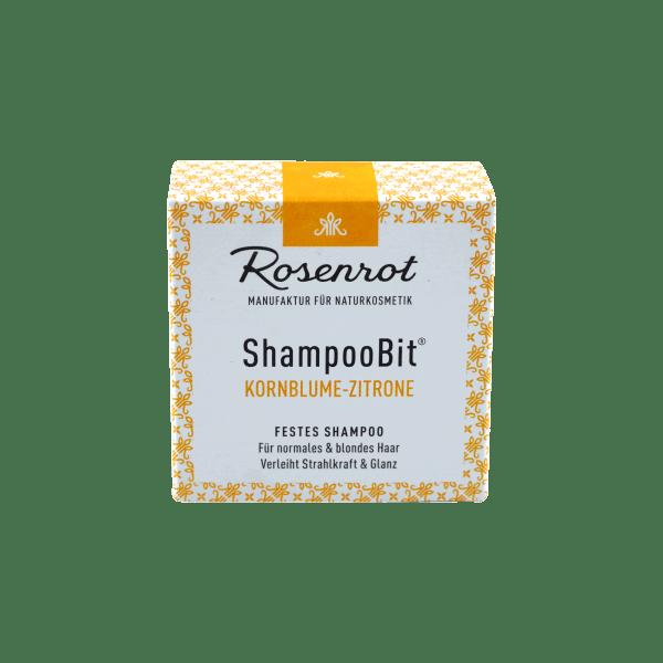 Rosenrot ShampooBit Shampoo Bit Kornblume Zitrone