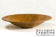 Olive ash ogee bowl, 21cm dia, 4cm high