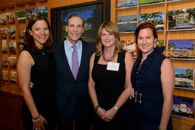Syl Trowbridge, Beth Steffanelli, and Christina Henderson with Phillip White, President and CEO Sotheby's International Realty #June'14 #Sotheby's Auction House
