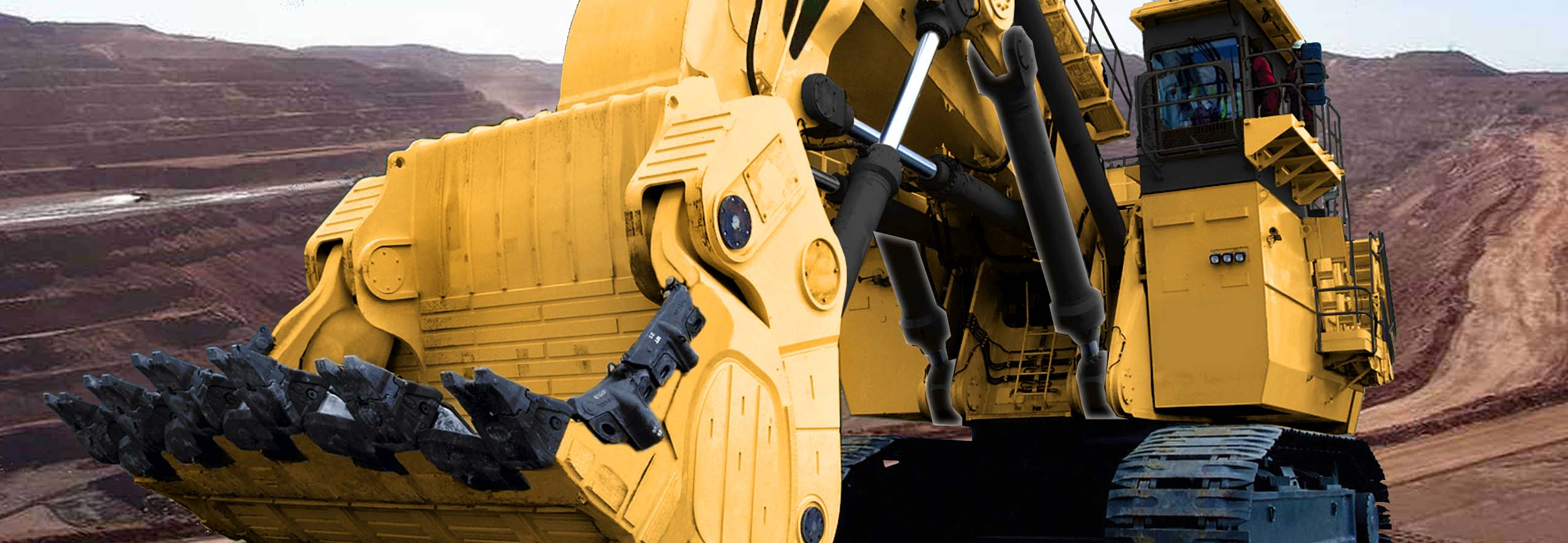 Cat 6060 Excavator at iron ore site