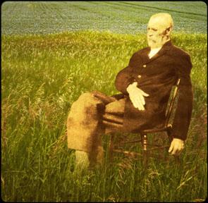 Old man in sun-4x4