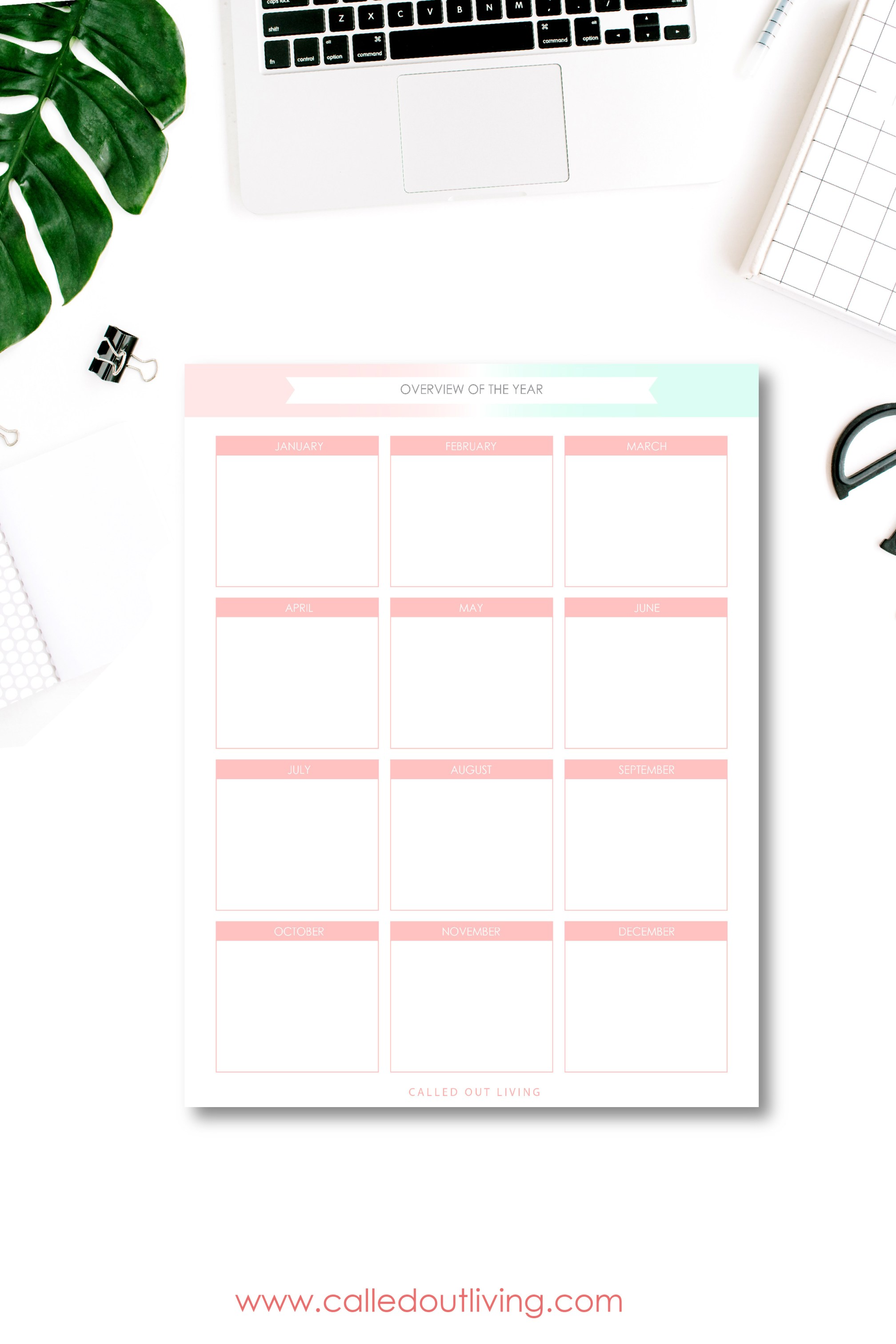 Goal Planner Free Printable Called Out Living