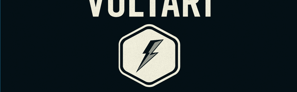 Voltari logo, a lightning bolt inside a hexagon.