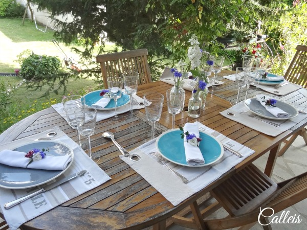 table fraîcheur bleuet