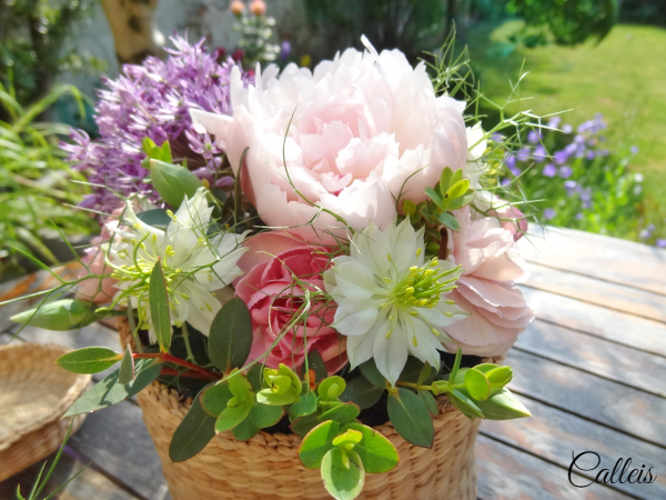 osier et fleurs