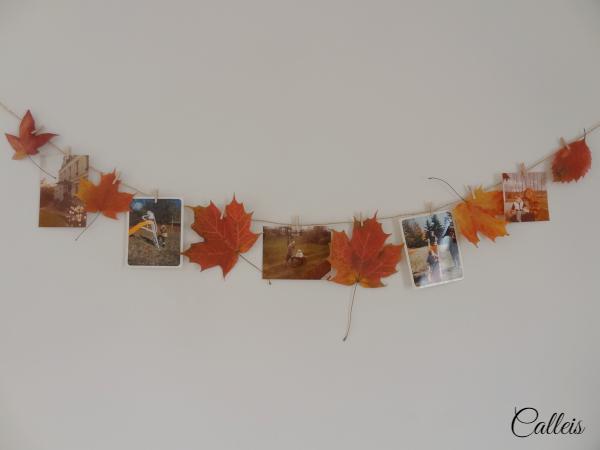 guirlande de feuilles d'automne