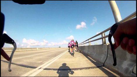 BIKE KEY BISCAYNE - Improved roadway and bike lane unveiled on Crandon Boulevard in Key Biscayne