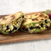 Chicken Black Beans and Avocado Arepas - Healthy Recipe Remixes for Hispanic Heritage Month