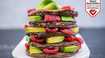Gluten-Free Chocolate Avocado Pancakes