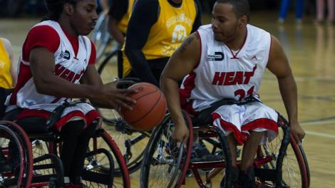 Miami HEAT Wheels players - Paralympic Experience coming to Tropical Park, March 9