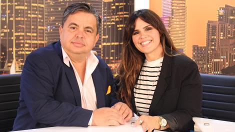Rosi and Carlucho in Univista TV Studios