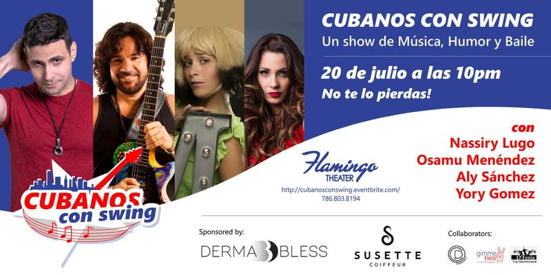Cubanos con swing promotional flyer