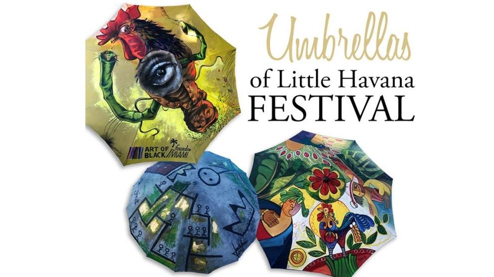 """umbrellas - Festival de Arte """"Paraguas de la Pequeña Habana"""" durante Art Basel Miami"""