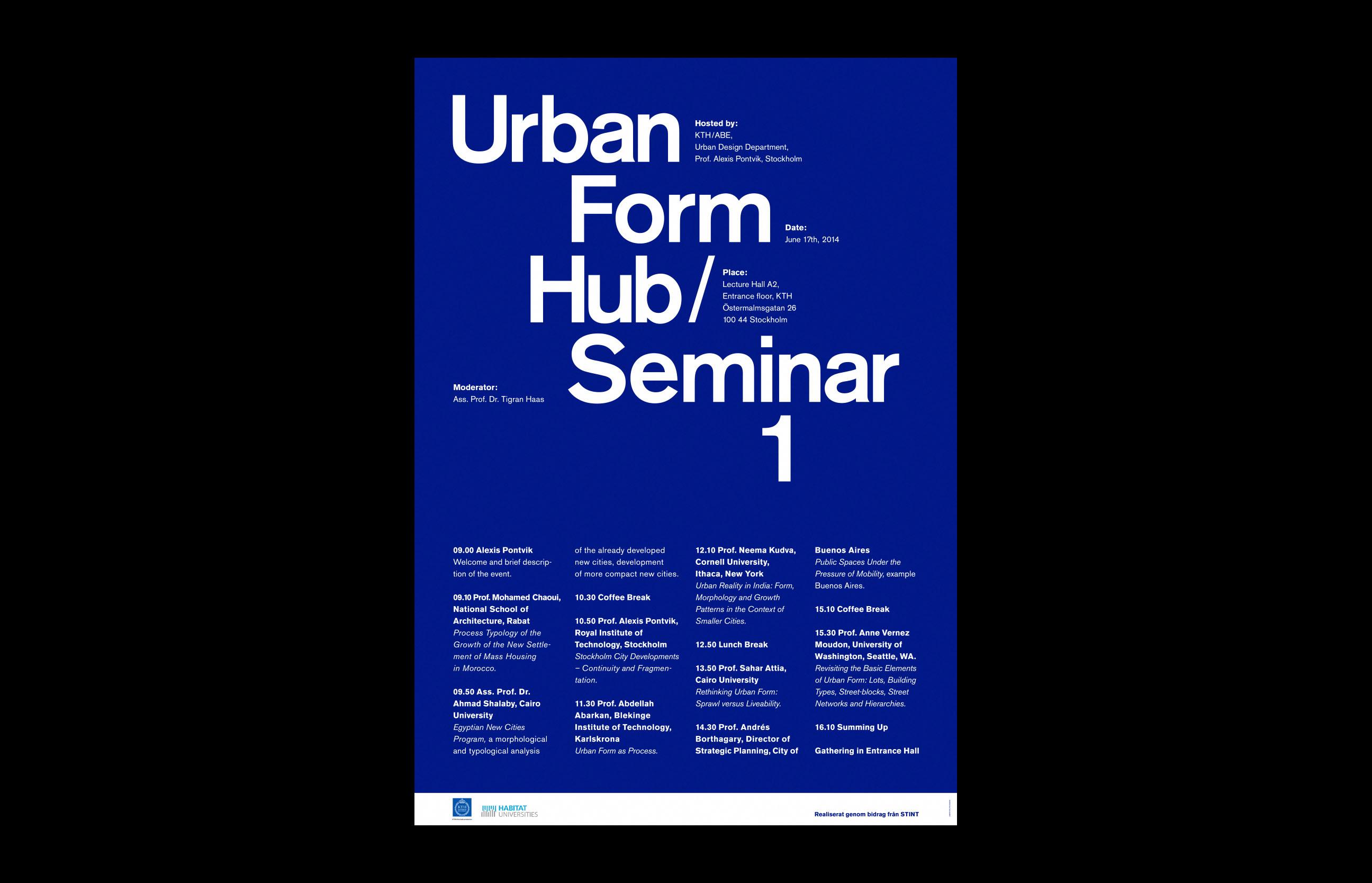 Urban Form Hub Seminar